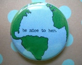 "earth friendly 1"" button"