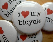 """bicycle love 1"""" button"""