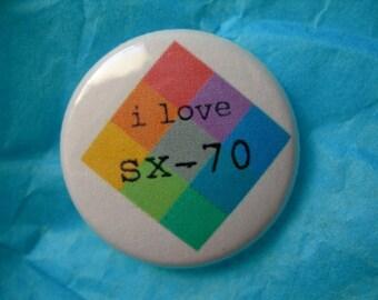 """sx70 love 1"""" button"""