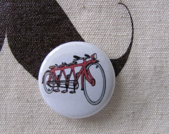 "tandem bike 1"" button"