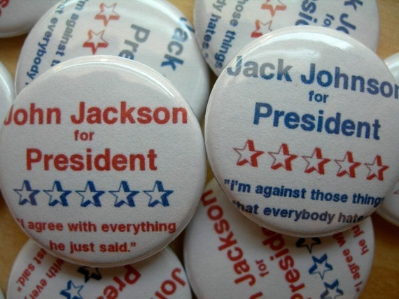 election pins, set of 2