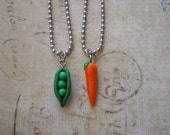 Peas and carrot friendship necklaces