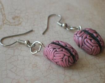 anatomical brain earrings
