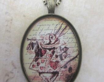 Alice in Wonderland - White Rabbit necklace
