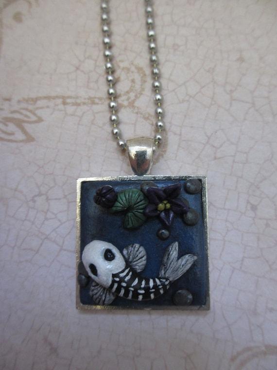 Pond of the dead -Koi pendant