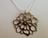 Poinsettia Silver Flower Necklace from MadrinDesigns SALE