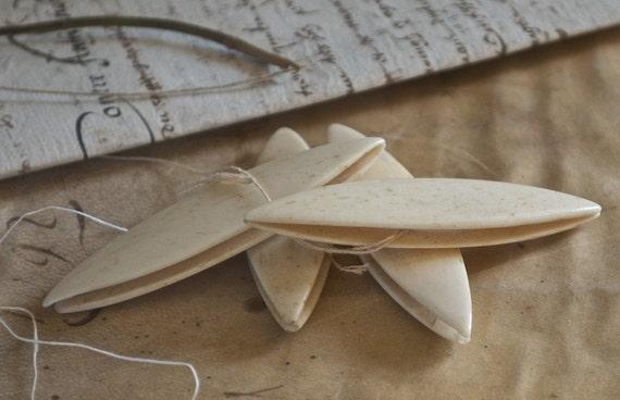 Antique French Bone Tatting Shuttles