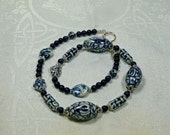 Delft Blue and White Necklace