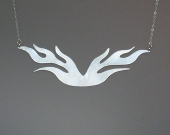 Funky Frosty Flames Necklace in Sterling Silver