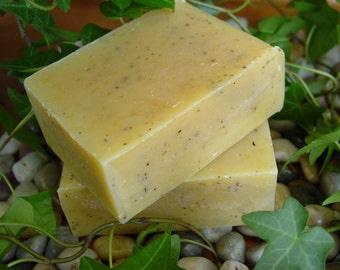 Gardener's Soap with Cornmeal, Lemon Mint, Vegan Friendly, 5 to 6 ounce bar