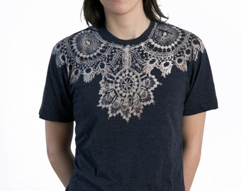 Lace T-shirt Charcoal grey