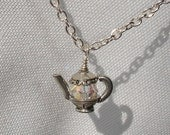 Dainty Pewter Teapot Necklace