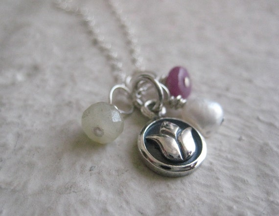 Silver Lotus Blossom Necklace