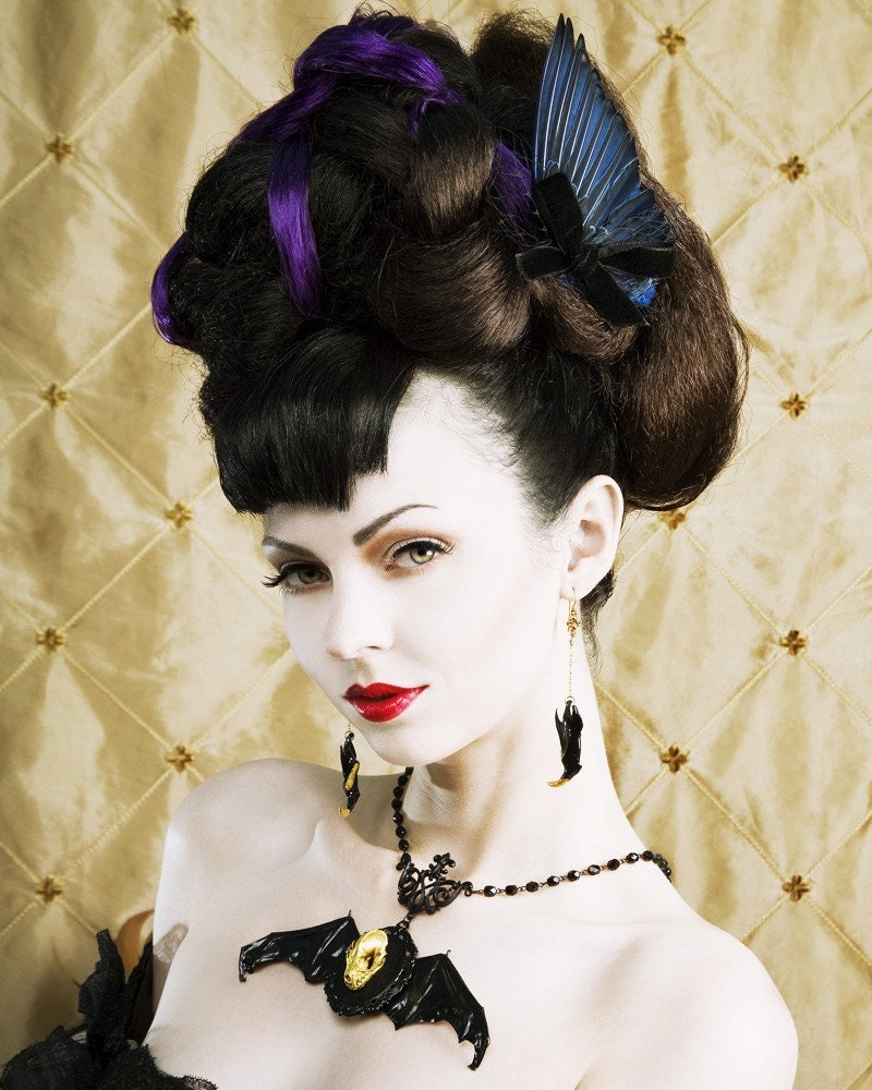 Gothic Wedding Makeup : LOVED TO DEATH Gothic Victorian Edwardian Taxidermy Royal Blue