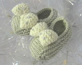 REDUCED - Baby Beau Delicious Hand Knitted Slippers to fit 0-3 months