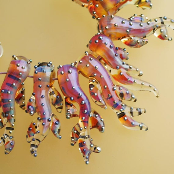Sunrise Corals - Handmade Lampwork Glass Beads (SRA)