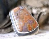 Sterling silver Ring - Ocean Jasper - size 6 - ooak