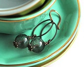 Earrings - Glass beads and Copper