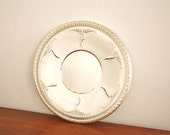 Vintage round silver plated serving tray, by Oneida