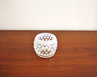 Vintage Moonstone glass toothpick holder