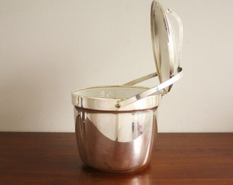Vintage silver plated ice bucket, Cressent