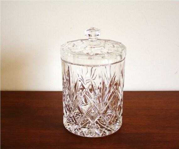 Vintage leaded crystal glass ice bucket or jar by highstreetmarket