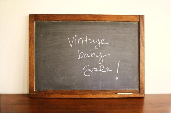 Vintage Baby Sale Large Vintage Schoolhouse Chalkboard With