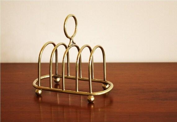 Vintage silver plated toast rack