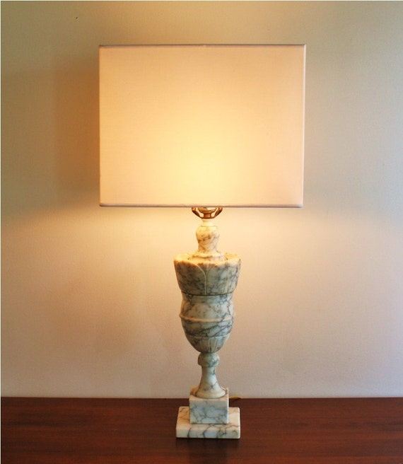Vintage White Marble Table Lamp By Highstreetmarket On Etsy