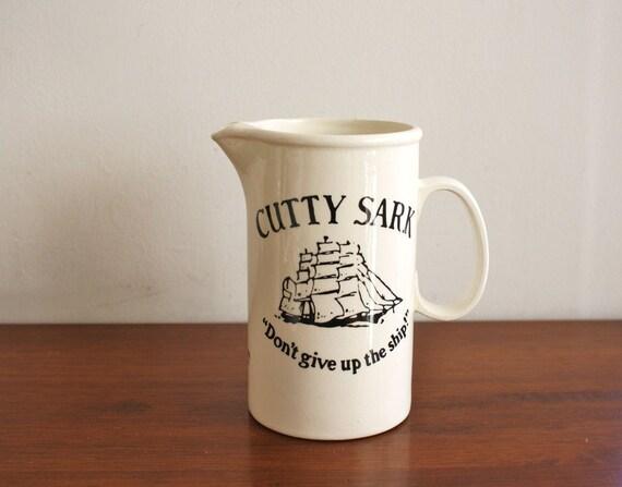 Vintage Cutty Sark Scots Whiskey, ceramic pitcher