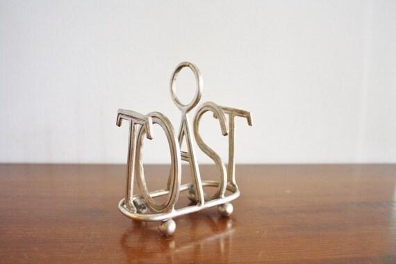 Vintage TOAST art deco silver plated toast rack