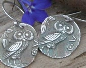Bibo Ancient Owl Coin Earrings