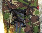Vintage Camo Corset Jacket Military Army DPM Soldier Uniform Combat Upcycled Recycled