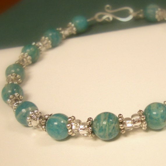 Russian Amazonite Beaded Anklet
