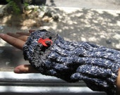 Upcycled Arm Warmer - Grey Knit, with Pocket
