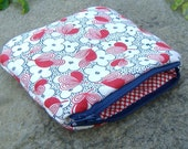 Red and blue zipper pouch