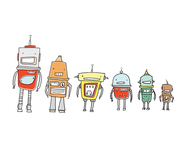 Vintage Robot Drawing