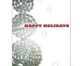 Snowman - Bicycle Chain Christmas Card