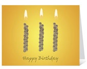 Light It Up - Bicycle Chain Birthday Card