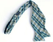 poly plaid freestyle bow tie