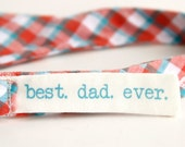 best. dad. ever. bow tie label add-on