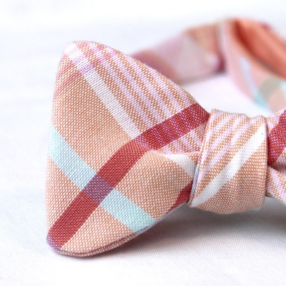 black friday/cyber monday sale-sweet peach freestyle bow tie