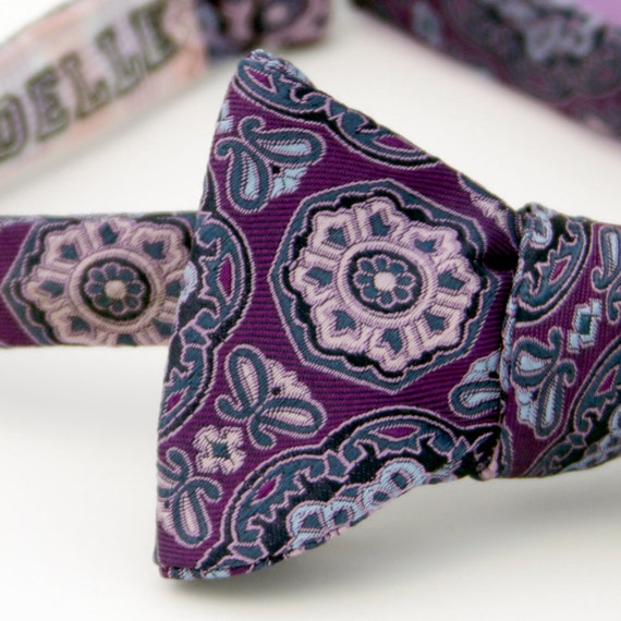 black friday/cyber monday sale-violet midnight freestyle bow tie