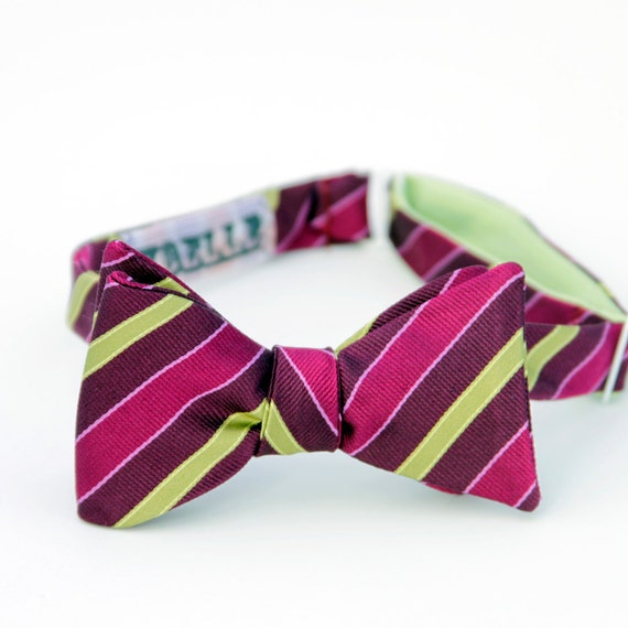 black friday/cyber monday sale-lime and fuschia freestyle bow tie