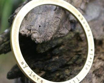 Custom Bangle Bracelet   Brass Ring   Personalized Custom Jewelry by E. Ria Designs