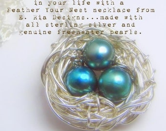 Nest Necklace | Mothers Necklace | New Baby Gift | New Mom Gift | Grandma Necklace | Grandmothers Nest Necklace | Sterling Sivler Nest