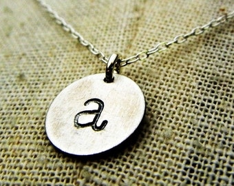 initial necklace vintage style letter necklace vintage style initial necklace charm necklace chelsea by e ria designs