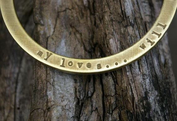 Custom listing for Jean Hair Personalized Bangle Bracelet - OCTAVIA Antiqued Brass Bangle PERSONALIZED