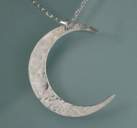 Crescent Moon Necklace Silver Moon Necklace Crescent Moon