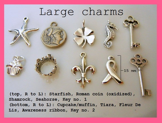 Sterling Silver Charm - Large Charms to Add Onto Your E. Ria Design (Or Purchase A La Carte)